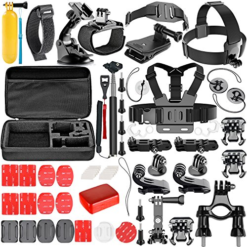 Neewer 57-en-1 Cámara de Acción Accesorios Kit para GoPro Hero Session/5 Hero 1 2 3 3+ 4 5 6 7 SJ4000 5000 6000 DBPOWER...
