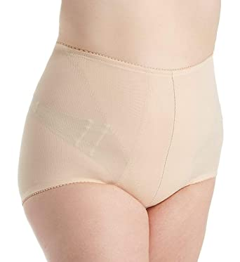 929b3bf6f3f Q-T Intimates Women s Retro High Waisted Tummy Control Brief - Supportive  Ladies Shapewear - Beige