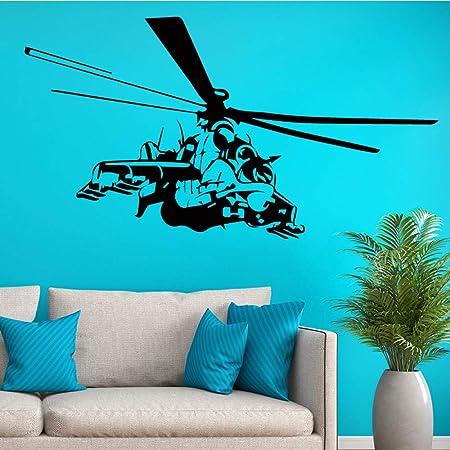 Divertidas pegatinas de pared de helicóptero para ...