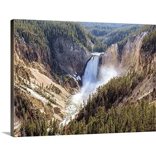 Lower Yellowstone Falls, Yellowstone National Park Canvas Wall Art Print, 16