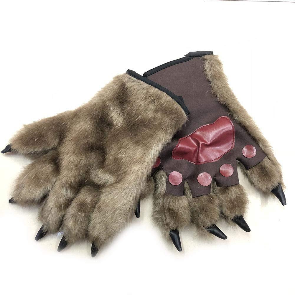 Oddity Guantes y Accesorios para Manos para ni/ños Vestir Guantes de Patas de Oso Guantes de Hombre Lobo Orangut/án Accesorios de Disfraces de Halloween 1 par