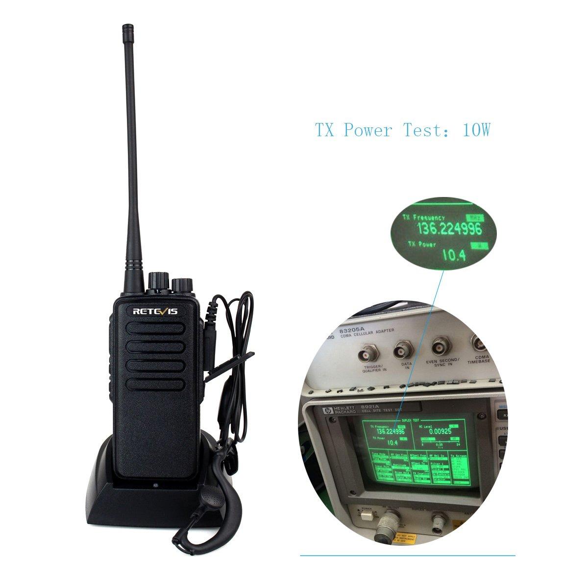 Retevis RT1 10W UHF Two Way Radio 70CM 400-520 MHz 16CH VOX Scrambler Ham radio and Speaker Mic (5 Pack) by Retevis (Image #3)