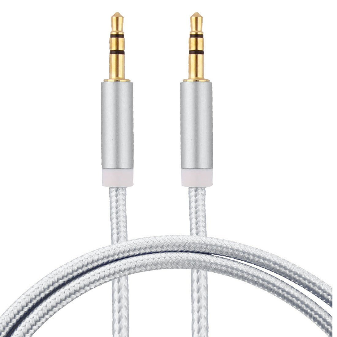 Amazon.com: eDealMax Nylon Inicio Mini Media Player teléfono inteligente DE 3,5 mm Macho a Macho Cable de Audio 1M 3,3 pies 2 PCS Dorado tono de la astilla: ...