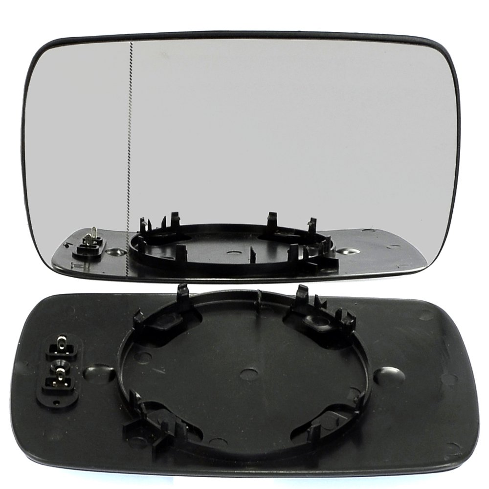 Left passegner side, passenger wing door clip mirror glass E46 Wide Angle Heated # BME46/HY0-1905985/590 Less4Spares