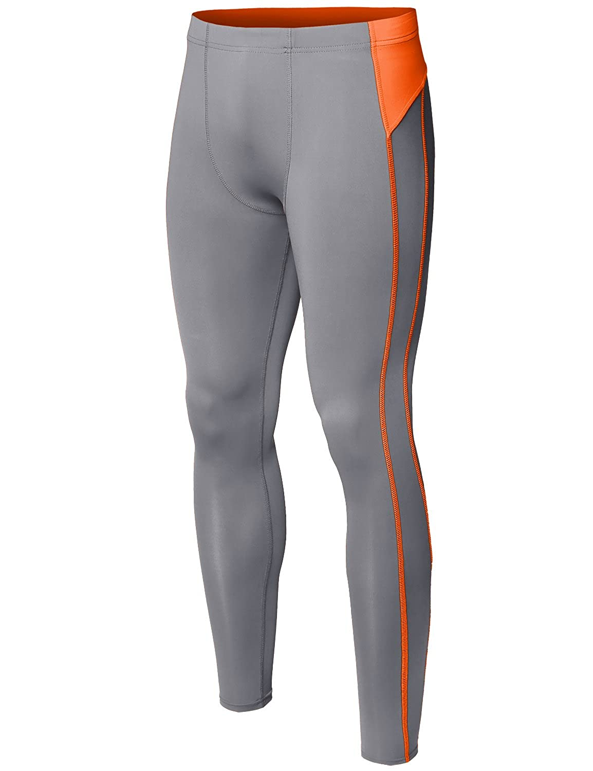 Youstar Mens Athletic Compression Base Under Layer Fitness Tight Pant