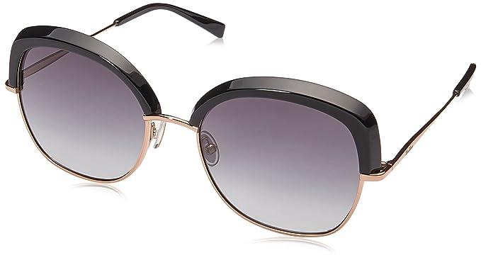 Max Mara Damen Sonnenbrille mm Needle VI 9O 2M2, Schwarz (Black Gold/Grey), 50