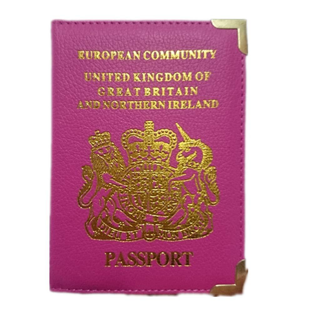 Orange-1pc Passeport//Porte-organisateur de Cartes en PU Cuir Accessoires de Voyage