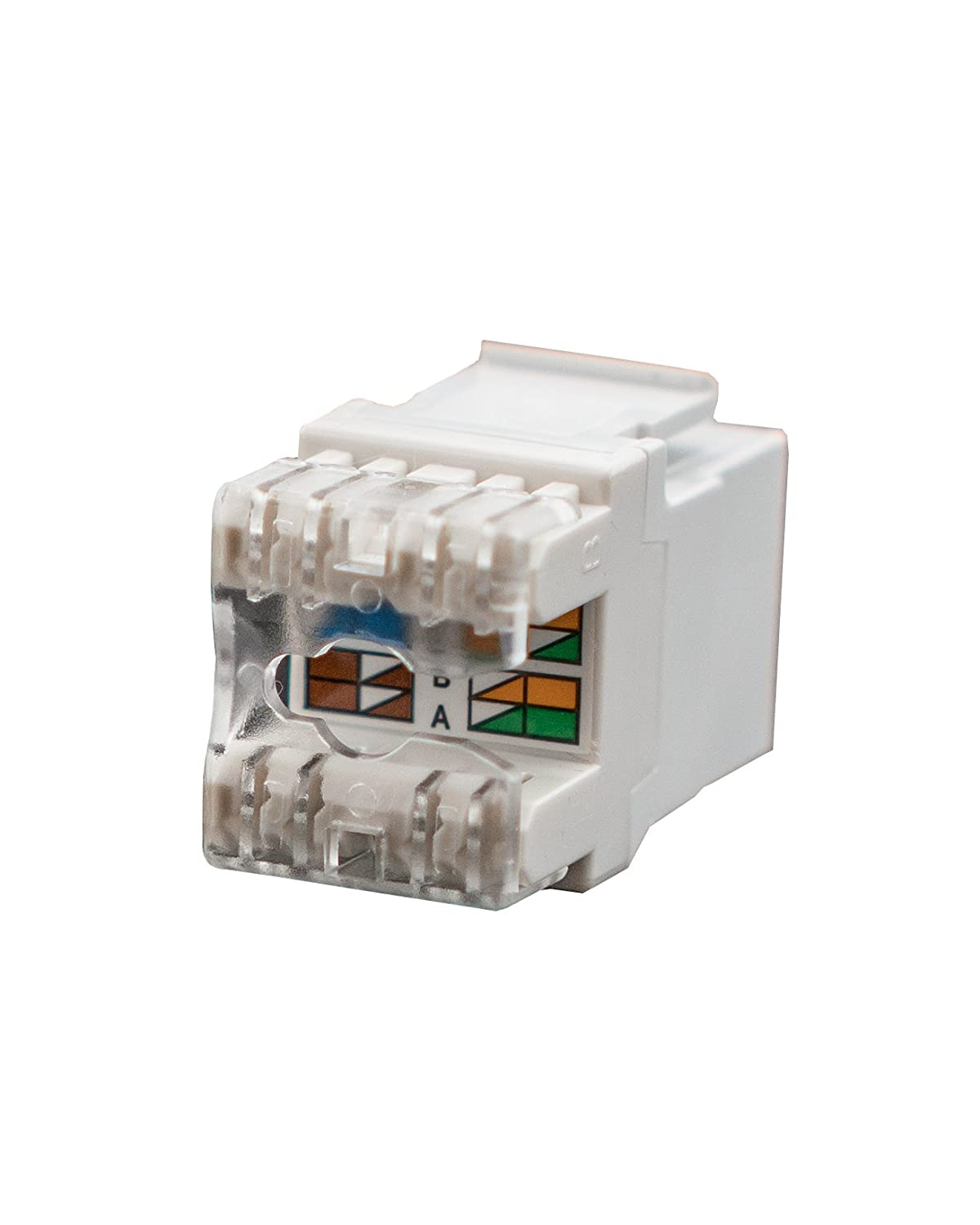 Legrand On Q Data Phone Jack White 5 Pack F3450whv5 Rj45 Wall Plate Work In Addition Cat5e Keystone Wiring Diagram As