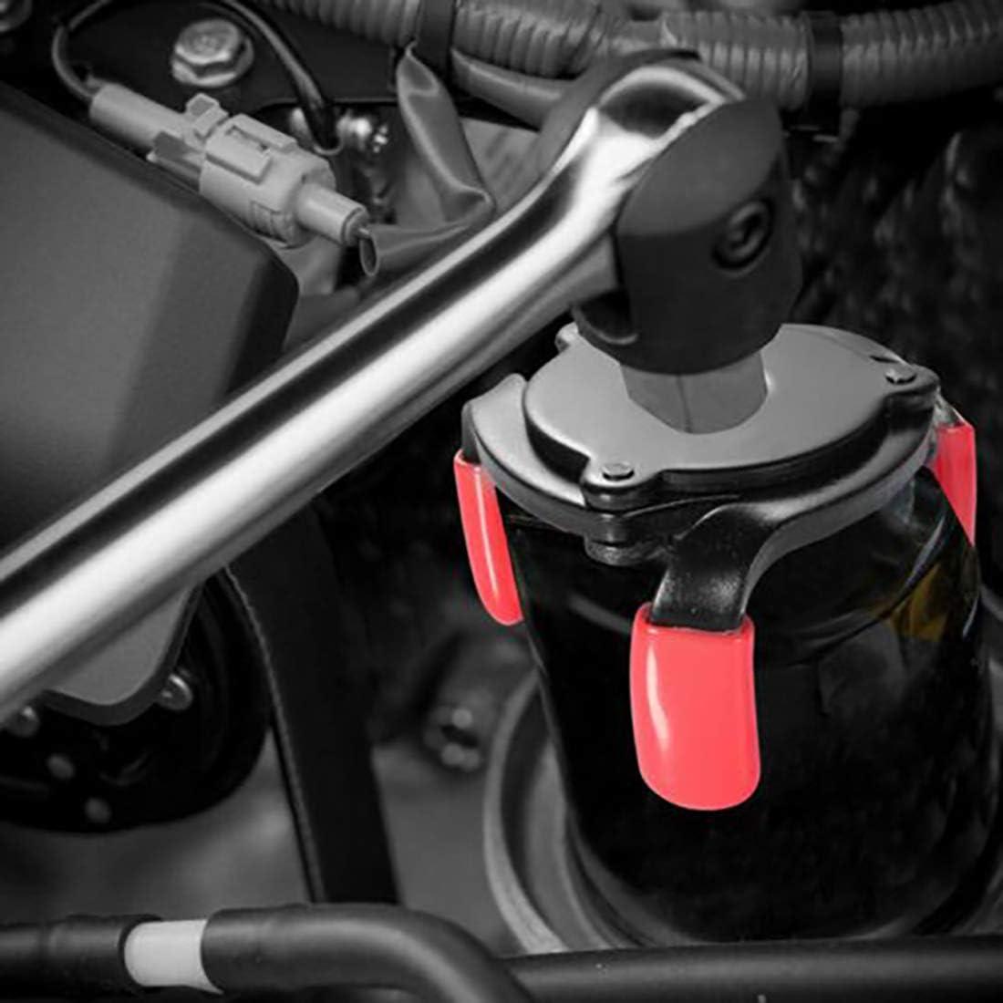 per filtro rimovibile strumento per auto 63 mm colore: Nero 95 mm Toolwiz Chiave per filtro dellolio regolabile a 3 ganasce universale