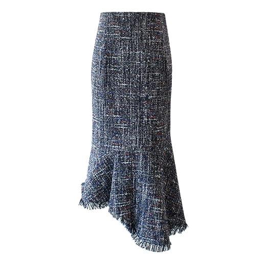 BSQZ JIN Ping® Faldas de Cola de pez, sección Larga de la Nueva ...
