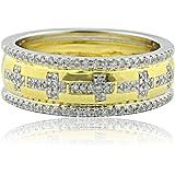 Amazon.com: 1cttw Diamond Yellow Gold Trio Wedding Set His