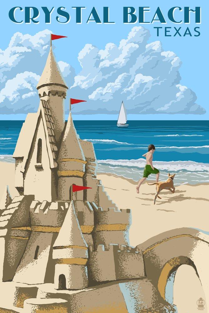クリスタルビーチ、テキサス – Sand Castle 36 x 54 Giclee Print LANT-54281-36x54 B017E9Z30Q  36 x 54 Giclee Print