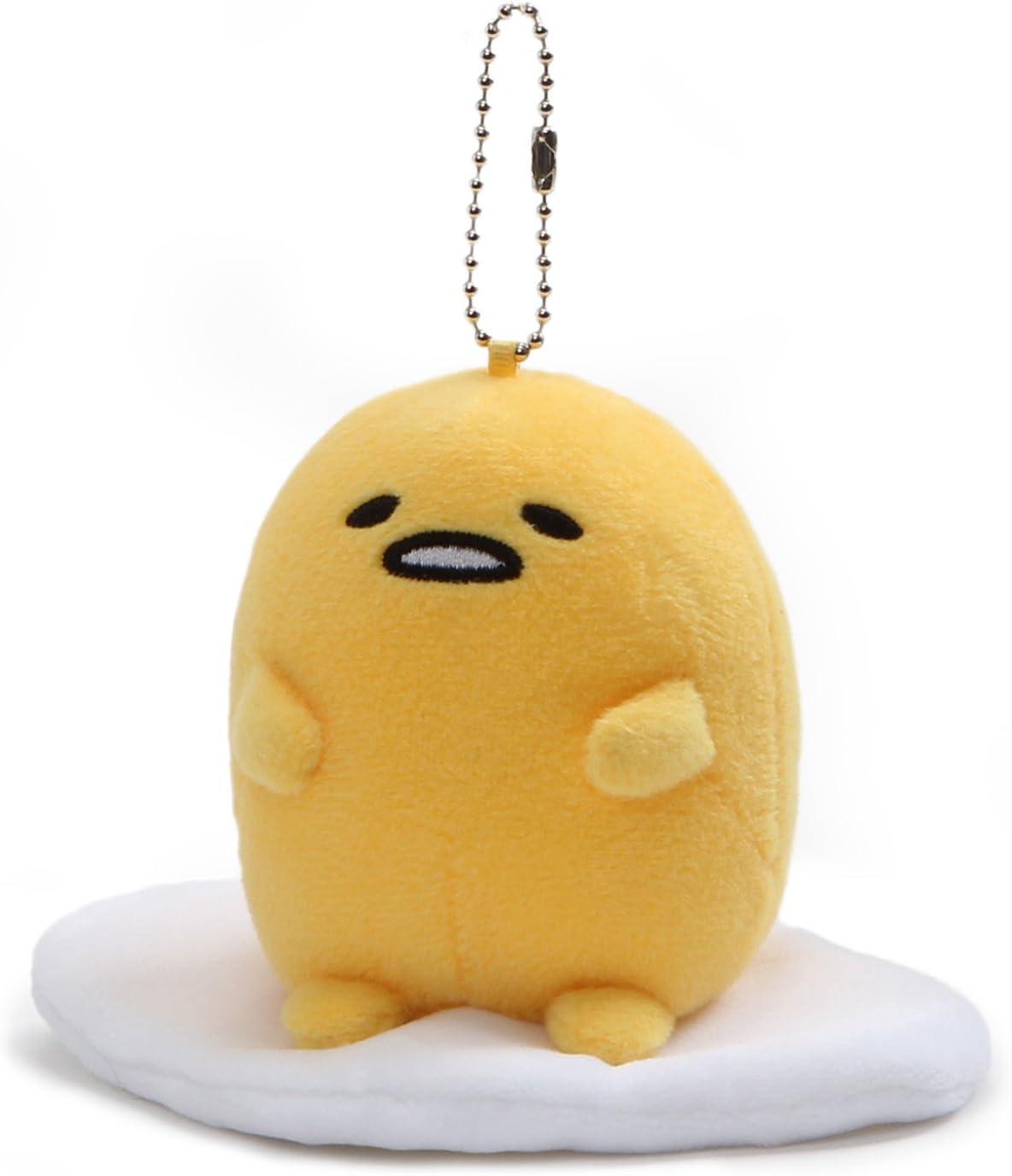 "GUND Gudetama ""Lazy Sitting Pose"" Stuffed Animal Plush Keychain, 5"