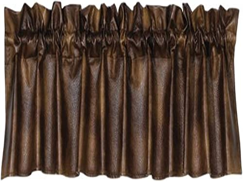 HiEnd Accents Rustic Faux Leather Western Valance – VL1005