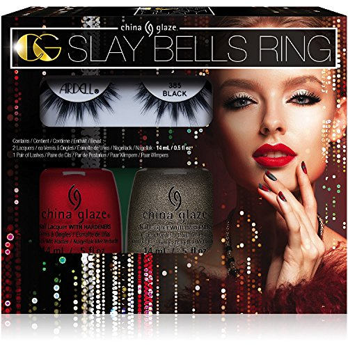 China Glaze The Glam Finale Collection - The Slay Bells Ring Kit - 2 colors + 1 free pair of (Pair China)