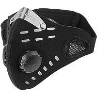 Wbestexercises Máscara Contaminación,Mascara a Prueba de Polvo Máscara Ciclismo A Prueba de Viento Antipolvo Filtro de Contaminación Media Mascarilla para Ciclismo Al Aire Libre
