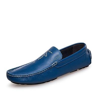 WLFHM Herrenschuhe Herren Erbsen Schuhe Fahren Schuhe Faule