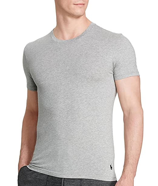 af94664d4 Polo Ralph Lauren Mens Jersey 2 Pack T-Shirt Gray L at Amazon Men s  Clothing store