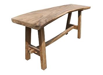 Suar Wood Bartisch 110x250 Cm Regenbaumholz Massiv Bistrotisch