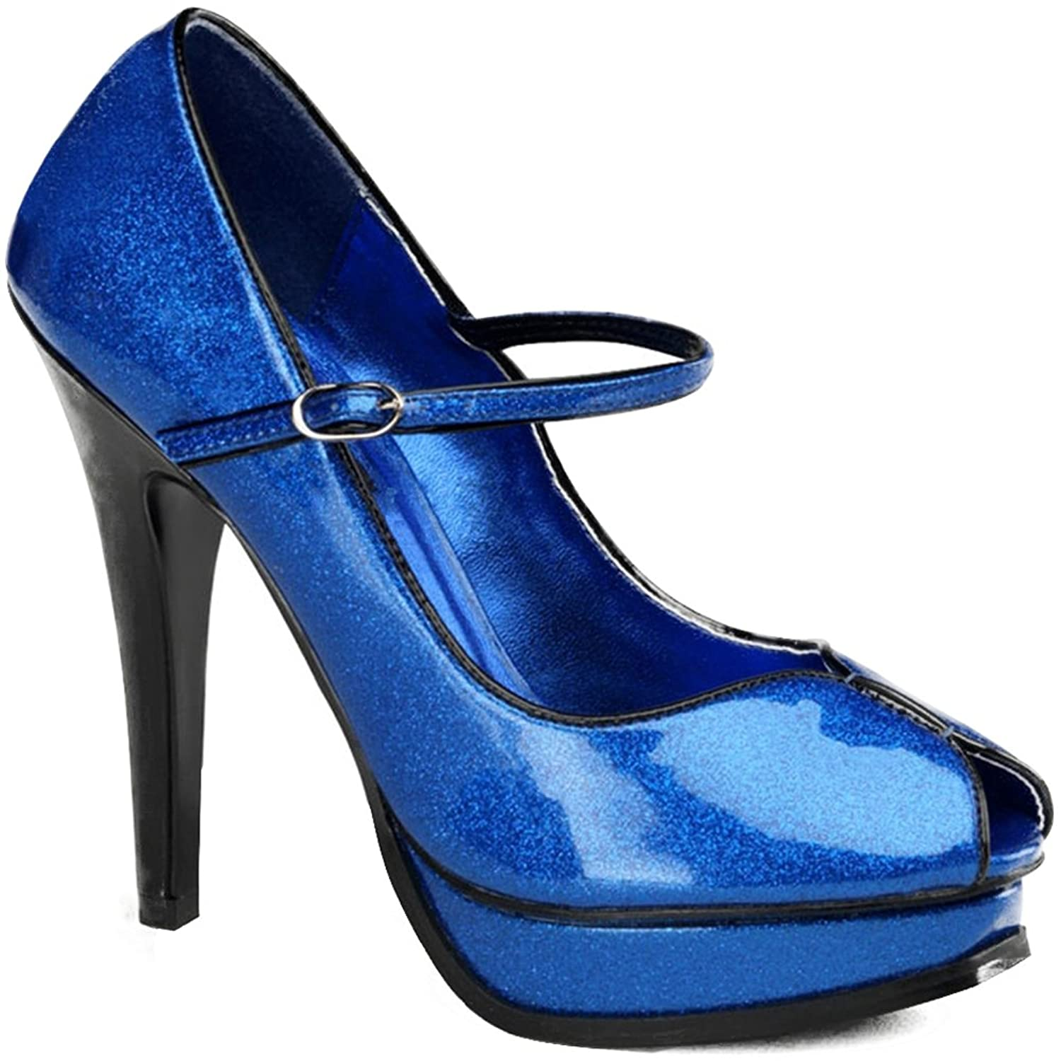 Pin Up Couture Pleasure 02G(Women's) -Silver Pearlized Glitter Patent Leather Outlet High Quality Countdown Package For Sale Discount Sale Free Shipping Sale RWjNd29