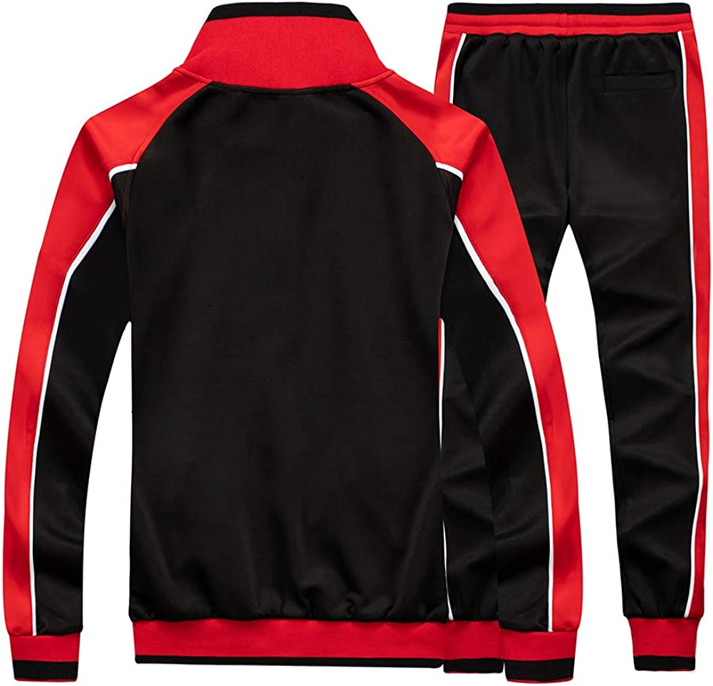 MANTORS Mens Hooded Athletic Tracksuit Full Zip Casual Jogging Gym Sweat Suits