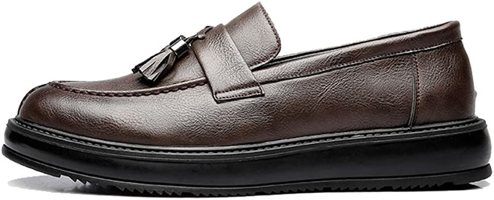 MXL Mens Business PU Leather Shoes Classic Slip-on Loafers Tassel Pendant Decoration Outsole