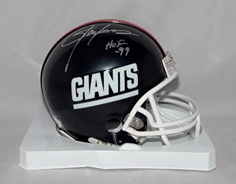 3d02d4dd2 Lawrence Taylor Autographed Mini Helmet - N Y TB 81 99 W HOF JSAW  silver -