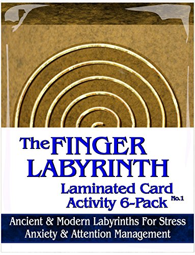 (Finger Labyrinth Laminated Card 6-Pack 1: Focus Tools for Stress, Anxiety, PTSD, ADHD & Autism )