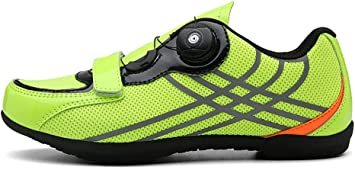 MOOLUNS Al Aire Libre Zapatillas de Ciclismo, con Parche Antideslizante de Goma con Cierre Giratorio de Alta Precisión, Unisexo, 38-46eu: Amazon.es: Deportes y aire libre