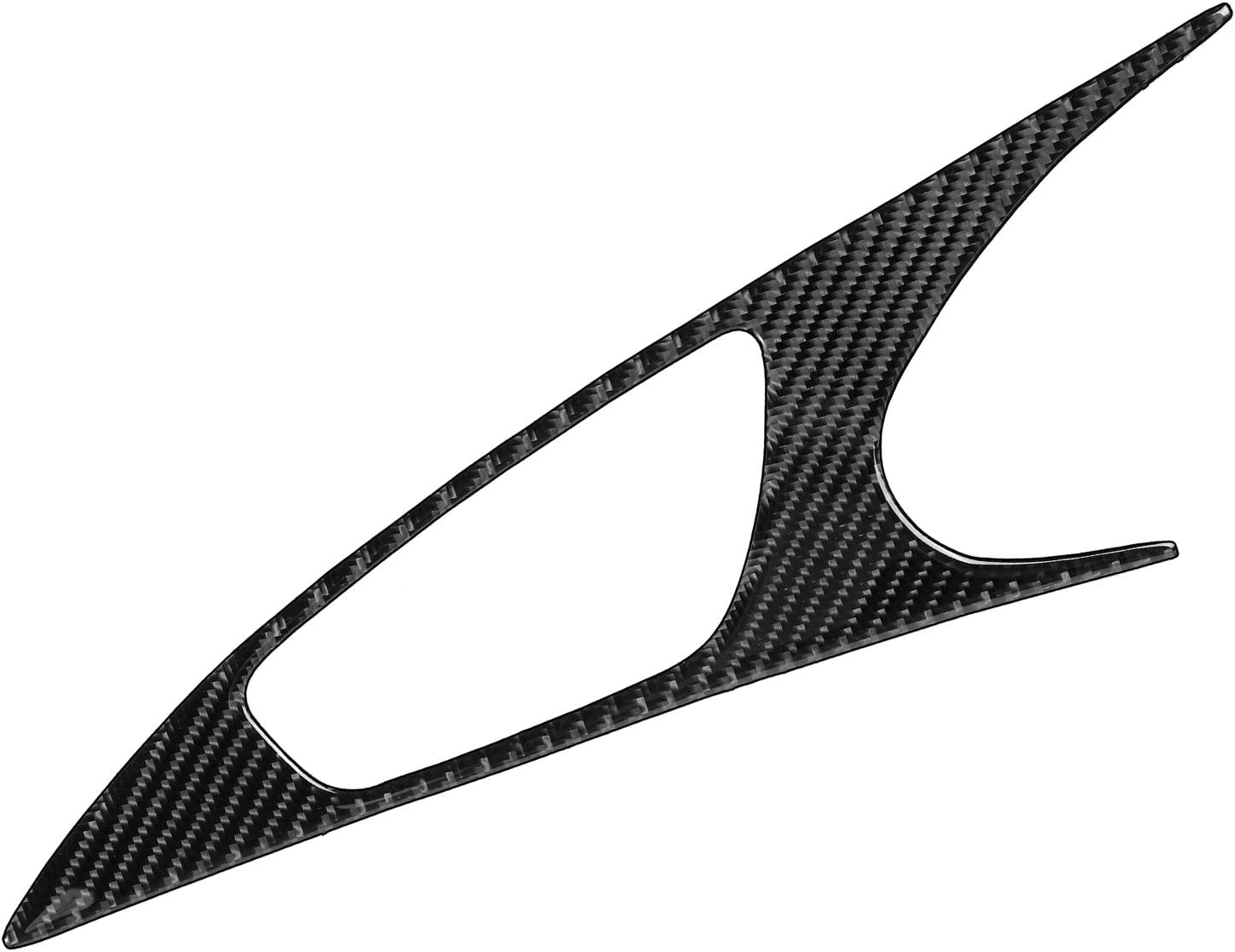 2Pc Black MICOOS Replacement for Carbon Fiber Front Inner Door Handle Decorative Sticker for Honda Civic 2016 2017 2018 2019 2020