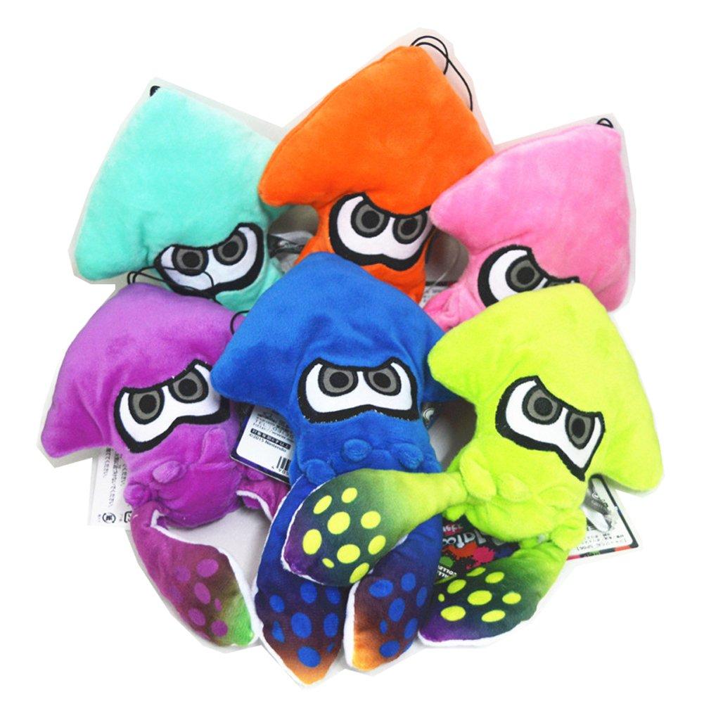 TISEA Unisex Splatoon Game Squid Hat Cuttlefish Funny Hats Winter Fleece Hat (Squid Stuffed Toy, Six Colors)