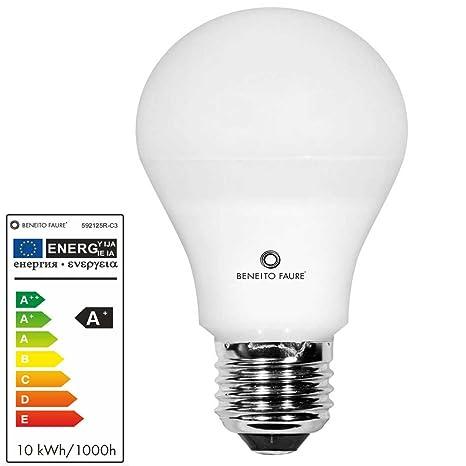 STANDARD 10W E27 220V 360º DIMMABLE LED by Beneito Faure - Blanco cálido, E27,