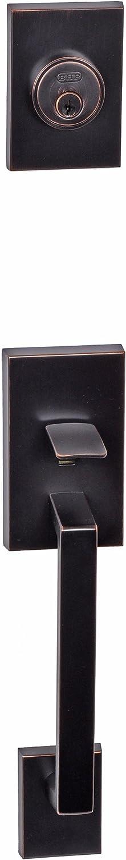 Better Home Products 95811DB Tiburon Handle Set with Interior Trim Ball Knob, Dark Bronze