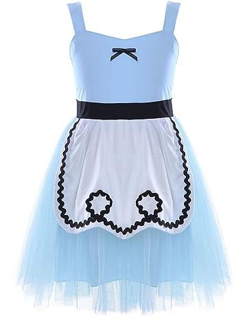 9804e5a9d9cf7 TiaoBug Bébé Fille Carnaval Déguisement Robe Blanche Neige Princesse Robe  de Soirée avec Bandeau Cosplay Costume