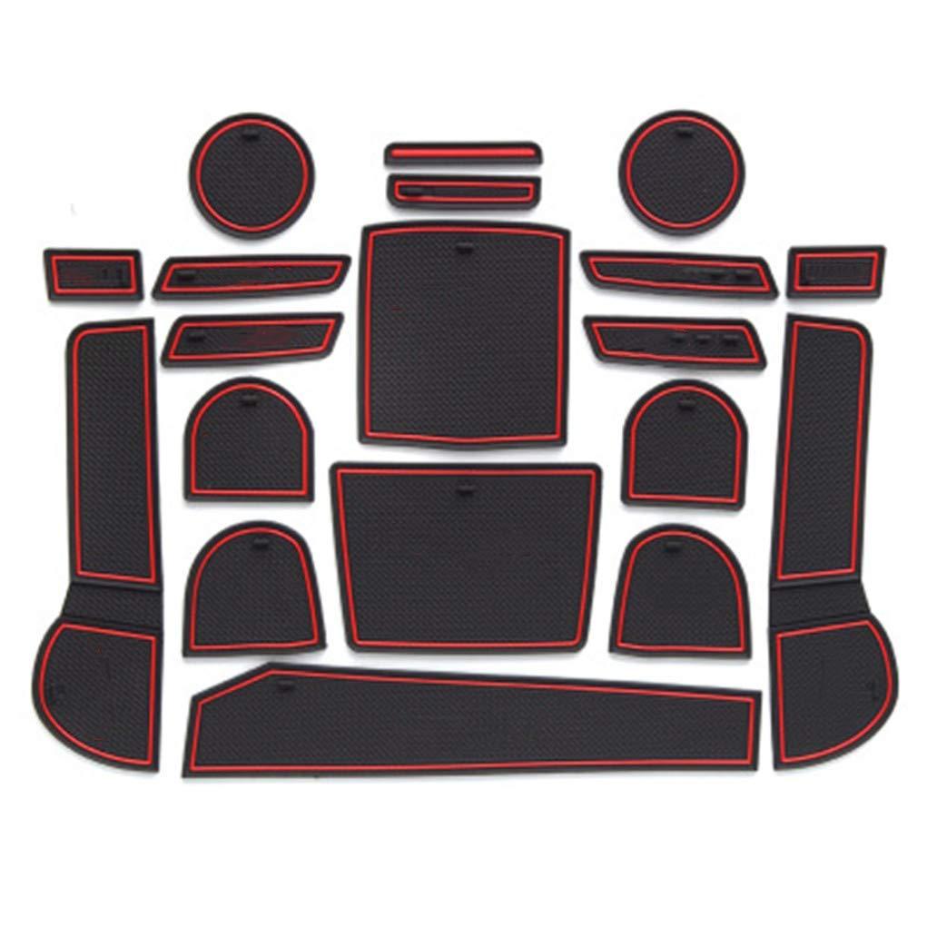 8X-SPEED F/ür Model 3 T/ürschlitz Pad Auto Cup Matten Becherhalter Pad Rutschfeste Gummi Matten Tor Slot Pad Innent/ür Zubeh/ör T/ür Nut Matte 7 St/ück Rot