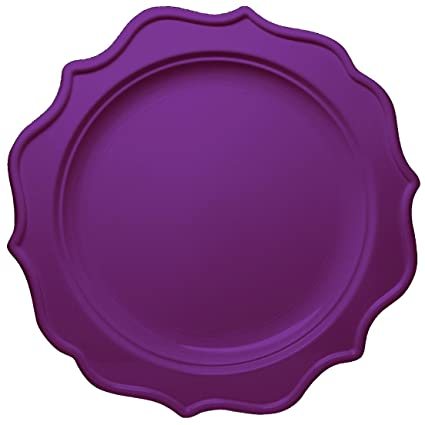 Posh Setting Festive Collection Medium Weight Plastic Purple Colored 10 inch Party Plates (12 Pack  sc 1 st  Amazon.com & Amazon.com: Posh Setting Festive Collection Medium Weight Plastic ...