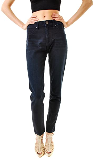 b911cc83 DL1961 Women's Nina High-Rise Skinny Jeans Dark Blue Size 24: Amazon.co.uk:  Clothing