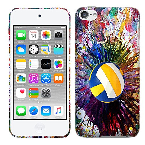 Glisten Designer Hard Plastic Case for iPod Touch 6, iPod Touch 5 - Vintage Color Volleyball . Slim Profile Cute Printed Designer Snap on Case by Glisten (Ipod Touch Designer Case)