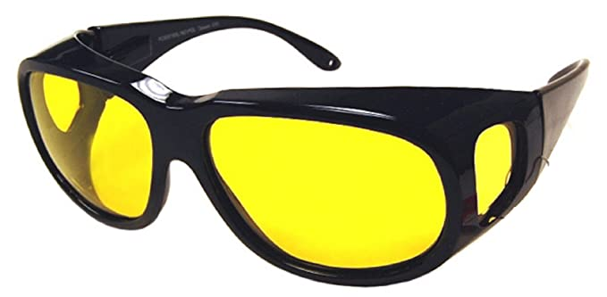 eb0d5b609ec0 Yellow Night Driving Fit Over Glasses, Size Extra Large - Polarized, Black