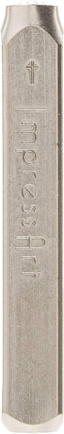 ImpressArt 6mm Cross Outline Design Stamp Perfect for Handmade Jewelry Making DIY Crafts Personalized Gifts For Stamping Soft Metals