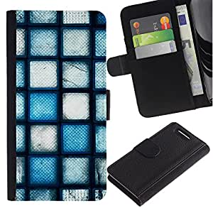 KingStore / Leather Etui en cuir / Sony Xperia Z3 Compact / Wall Art Dise?o Arquitectura Arte Moderno aleatoria