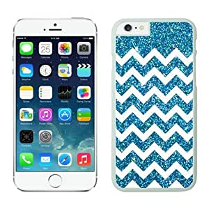 Iphone 6 White Case 4.7 Inches Anchor Glitter Wave Design Durable Silicone Slim Phone Back Cover