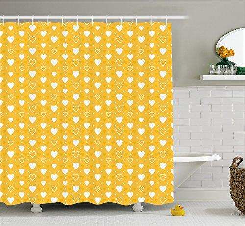 Yellow Curtain Ambesonne Pattern Bathroom