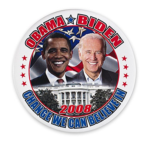 Presidential Campaign 2008 Ncampaign Button For Democratic Presidential And Vice Presidential Candidates Barack Obama (Left) And Joseph Biden 2008 Poster Print by (18 x -