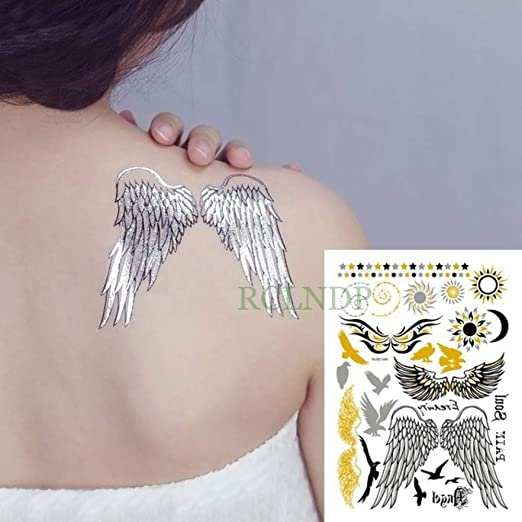 tzxdbh 2 Piezas Adhesivas para Tatuajes a Prueba de Agua Oro ...