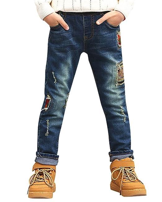 Auf Abstand gut kaufen klassischer Stil von 2019 Jungen Kinder Zerrissen Hosen Jeans Jogging Biker ...