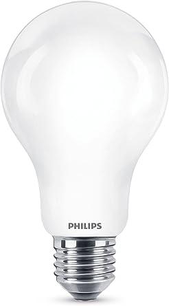 Philips Bombilla LED estándar E27, 11.5W equivalentes a 100 W en ...