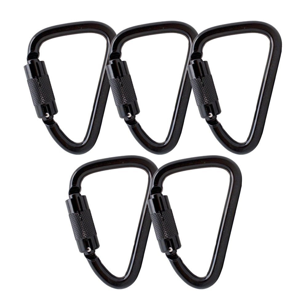 Fusion Climb Aztec Steel High Strength Pear Shape Auto Lock Carabiner 5-Pack