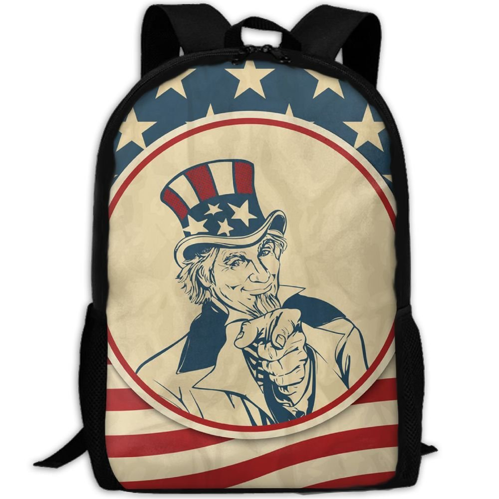 bdbd4bd739 Americana Uncle Sam Luxury Print Men And Women s Travel Knapsack best