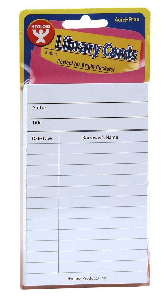 Bright Colored Due Date Note Cards 50 Pack Hygloss Products Library Checkout Cards 3 x 5 Inches